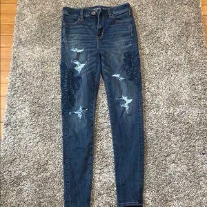 American Eagle High Rise Super Stretch Jeans